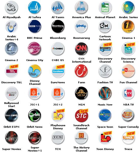 لیست کانالهای قابل مشاهده با Gbox Orbit